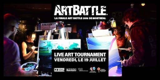 La Finale Art Battle 2019 de Montréal - 19 Juillet, 2019