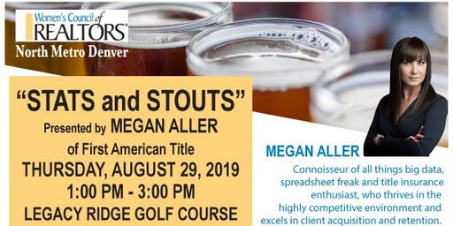 Stats & Stouts with Megan Aller & Benefits of Membership Happy Hour