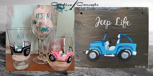 Jeep Glass or Slate Paint Night