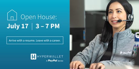 Hyperwallet, A PayPal service, Customer Service Recruitment Open House tickets