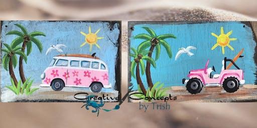 Van or Jeep Slate Paint Night