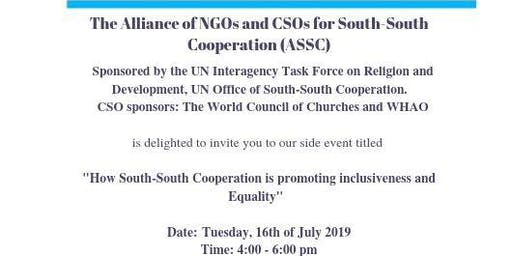 How South-South Cooperation is promoting inclusiveness and Equality