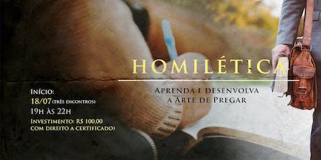 Homilética: Aprenda e desenvolva a Arte de Pregar ingressos