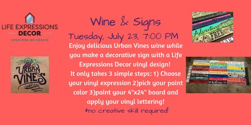 Wine & Signs at Urban Vines