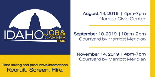 Idaho Job & Career Fair September 10th