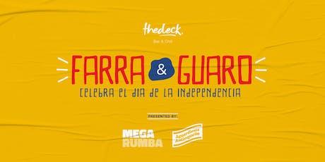 Farra y Guaro - Colombia: Día de la Independencia at thedeck tickets