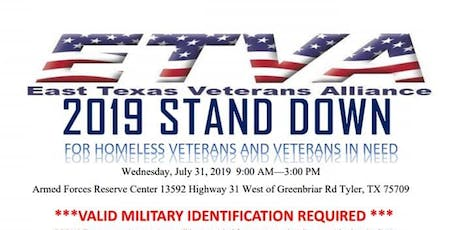 East Texas Veterans Alliance 1st Annual Military Stand Down tickets