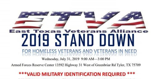 East Texas Veterans Alliance 1st Annual Military Stand Down