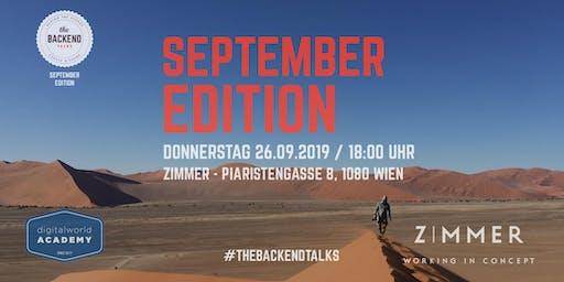 The BACKEND Talks | September 2019