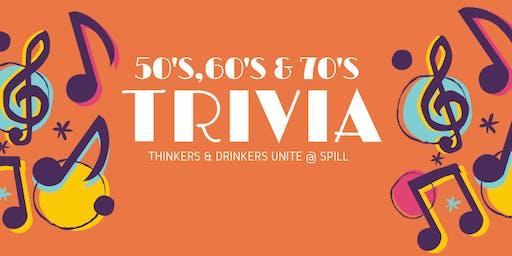 Trivia Night - 50's,60's & 70's
