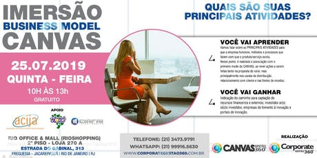 Imersão Business Model Canvas Presencial ingressos