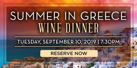 Blue Fin Summer in Greece Wine Dinner- New York, NY tickets