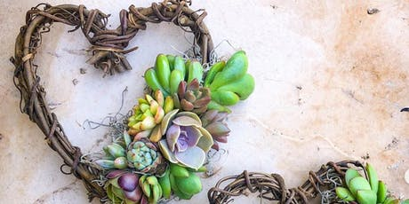 Succulent Mini-Heart Wreath Making tickets