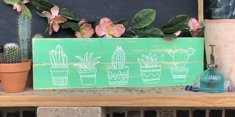 Succulent Wood Sign Workshop | All Ages 5+ Welcome! tickets