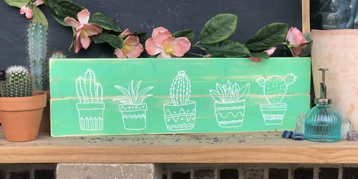 Succulent Wood Sign Workshop | All Ages 5+ Welcome!