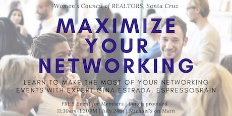 Maximize your Networking tickets