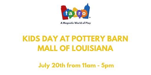 Kids Day at Pottery Barn, Mall of Louisiana.
