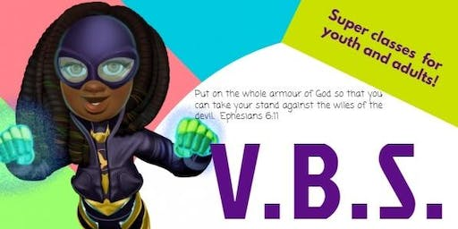 Vacation Bible School - Super Heroes putting on the whole Armour of God