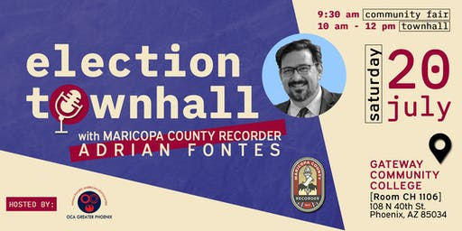 Election Town Hall with Maricopa County Recorder Adrian Fontes