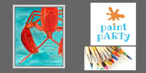 All Ages Paint Party on Canvas - Lobstah - $25 pp