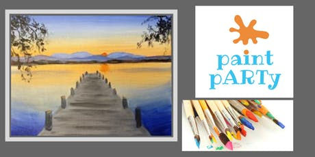 Paint'N'Sip Canvas - Sunset Dock - $35 pp tickets