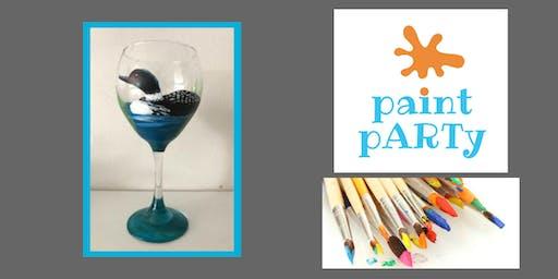 Paint'N'Sip Two Wine Glasses - Loon - $35 pp