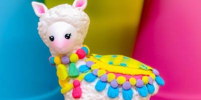 Llama Love Fondant Topper