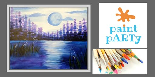 Paint'N'Sip Canvas - Moon Lake - $35 pp