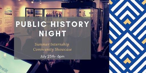 Public History Night: Summer Internship Community Showcase