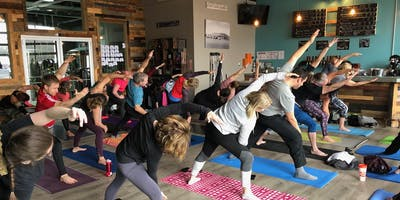 Yoga and Brews at Brindle Haus Brewing Co.