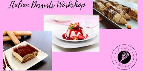 Let's make Italian Desserts - Interactive class tickets