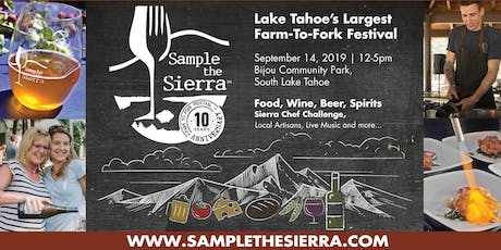 Sample the Sierra 2019 tickets