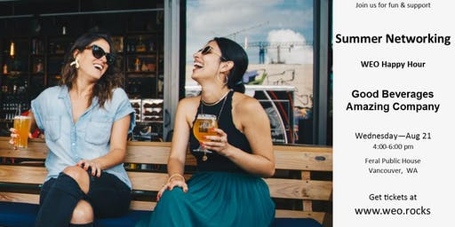 Women Entrepreneurs Org (WEO) Aug 21 Happy Hour: Summer Networking