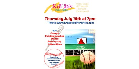 Go Sox! Paint party Thursday July 18th at 7pm at the Kreativ Studio  tickets