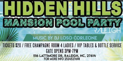 Hidden Hills Mansion Pool Party Raleigh