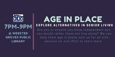 Aging in Place: Explore Alternatives in Senior Living tickets