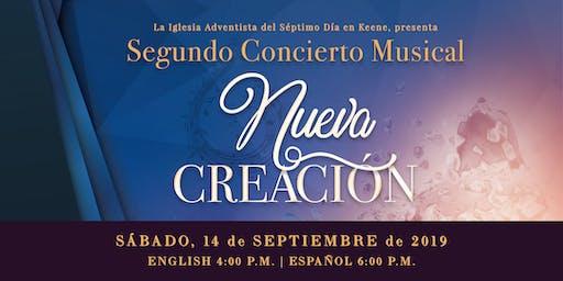 "Segundo Concierto Musical: ""Nueva Creación"""