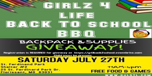 Girlz 4 Life Back 2 School BBQ and Bookbag GiveAway!
