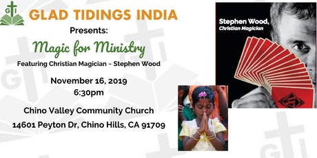 Glad Tidings India: Magic for Ministry tickets
