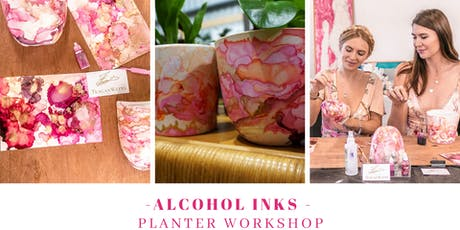 SOLD OUT Alcohol inks planter workshop tickets