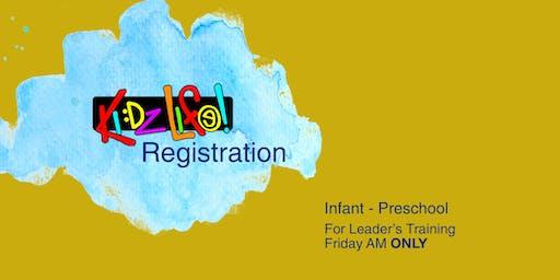 G12 Leadership Training:  Kidz Life Registration