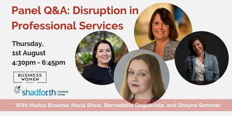 Sydney, Business Women Australia Panel: Disruption in Professional Services tickets