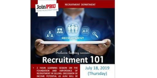Pru Life UK Recruitment 101 Session