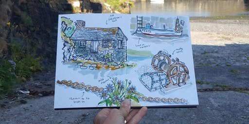 Sketchwalk Workshop with Melanie Chadwick - Mullion Cove and Harbour