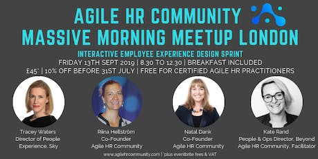 Agile HR Massive Morning Meetup | London | Fri 13th Sept tickets