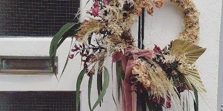 Dried Wreath- create your own bespoke dried wreath tickets