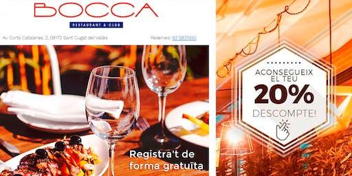 Bocca Restaurant · Promoció 20% Sopars a la terrassa