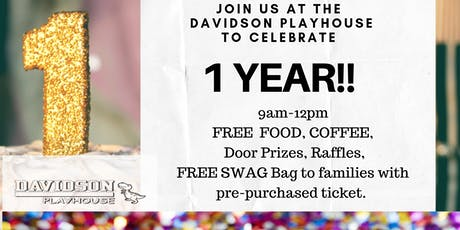 Davidson Playhouse 1 Year Anniversary Party! tickets