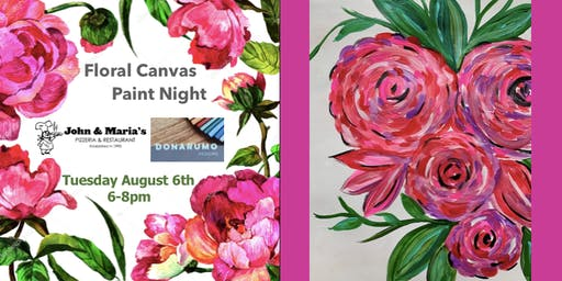 Floral Canvas Paint Night