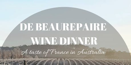 de Beaurepaire Wine Dinner tickets